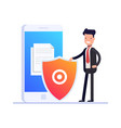 flat file protection concept protect your files vector image vector image