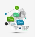 fresh business abstract infographic vector image vector image