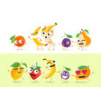 funny fruit - set of isolated characters vector image vector image