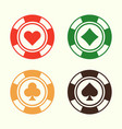 gambling poker chips set design elements vector image