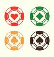 gambling poker chips set of design elements vector image vector image