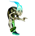 ghost boy is fluctuating vector image vector image