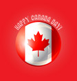happy canada day poster vector image vector image