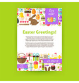 Happy Easter Holiday Invitation Template Poster vector image