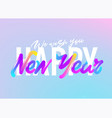happy new year xmas greeting card design bright vector image