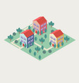 isomeric buildings vector image