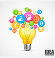 light with lots ideas vector image vector image