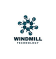 logo windmill gradient colorful style vector image