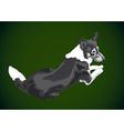 lying big dog vector image vector image