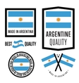 Made in Argentina label set vector image vector image
