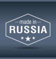 made in russia hexagonal white vintage label vector image vector image