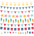Marine bunting and garland set vector image vector image