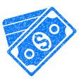 money grunge icon vector image