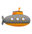 ocean submarine icon cartoon style vector image