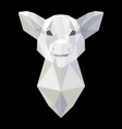 pig head polygonal white model vector image
