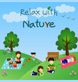 relax with nature vector image vector image