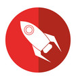 rocket startup launch icon shadow vector image vector image