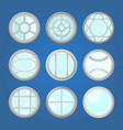round windows with different frames vector image