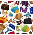 seamless womans fashion accessory wallpaper vector image vector image