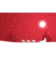 Silhouette of train Santa scenery vector image vector image
