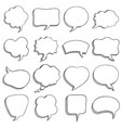 sketch speech bubble empty comic speech bubbles vector image