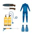 spearfishing diving equipment set