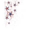 stars on white patriotic vector image vector image