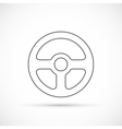 Steering wheel outline icon vector image vector image