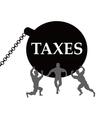 taxes burden vector image vector image