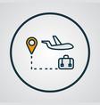 travel tour icon colored line symbol premium vector image