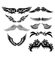 tribal wings for tattoo vector image vector image