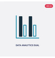 two color data analytics dual bars icon from user vector image vector image