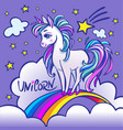 unicorn head portrait magic fantasy horse d vector image