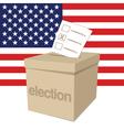 US Election Ballot Box vector image