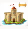 castle 3d icon vector image