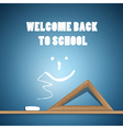 Welcome Back to School Blue Background vector image