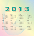 2013 calendar pastel color vector | Price: 1 Credit (USD $1)