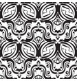 abstract black and white vintage seamless pattern vector image