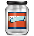 an empty jar with label vector image