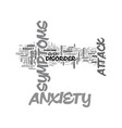 anxiety attack heart problems text word cloud vector image vector image