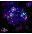 aries constellation with triangular background vector image vector image