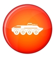 Armored personnel carrier icon flat style vector image vector image