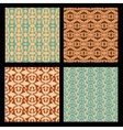 Art deco style seamless background tiles vintage vector image vector image
