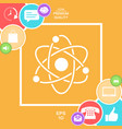 atom symbol - science icon vector image