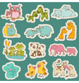 baand mommy animal set on paper tags