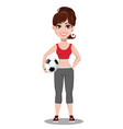 beautiful woman in sport outfit vector image vector image