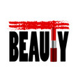 beauty t-shirt fashion print with red lipstick vector image