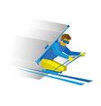 biathlon for athletes with a disability vector image