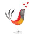 bird in love vector image vector image