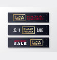 black friday stylish premium banners set modern vector image